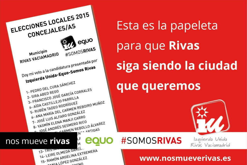 Imagenes IU - EQUO - SOMOS RIVAS
